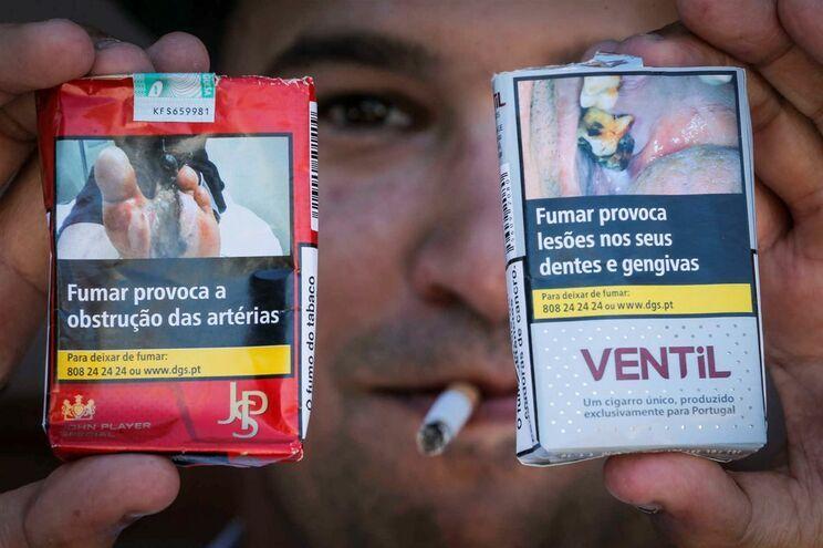 Imagens choque nos maços de tabaco