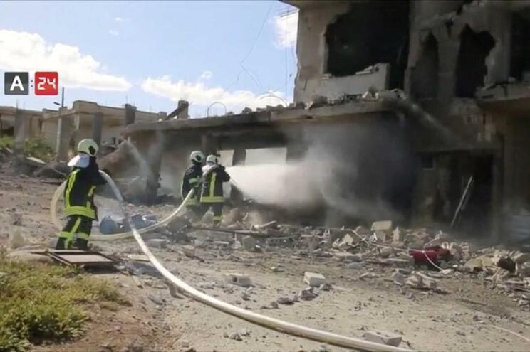 Hospital de Nabd Al-Hayat também foi bombardeado