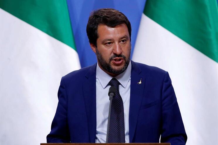 Ministro do Interior italiano e líder da Liga, Matteo Salvini