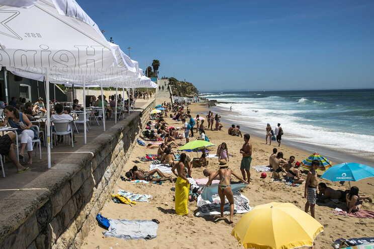 A praia de São Pedro do Estoril, no concelho de Cascais