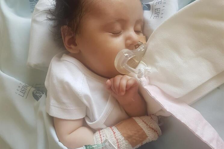 Bebé Matilde vai ter alta do hospital