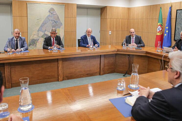 António Costa recebeu os presidentes da Federação Portuguesa de Futebol, do Sporting, F. C. Porto e Benfica