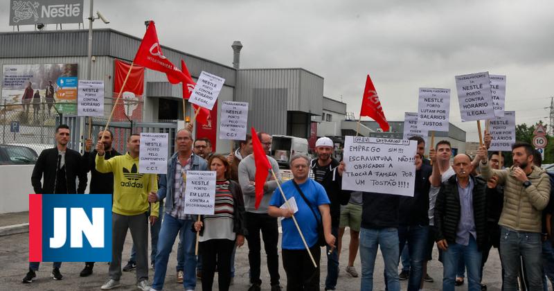 """Trabalhadores da Nestlé exigem pagamento """"justo"""" dos subsídios de turno"""