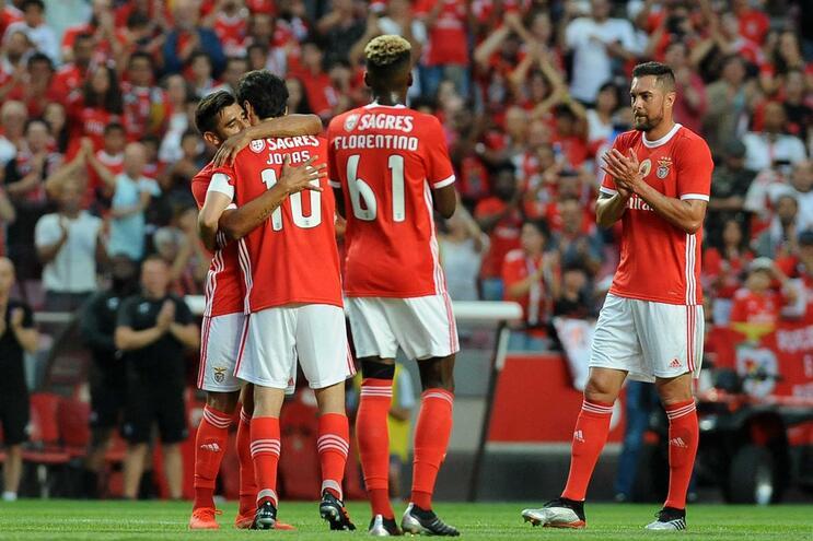 O onze do Benfica para o amigável com a Académica
