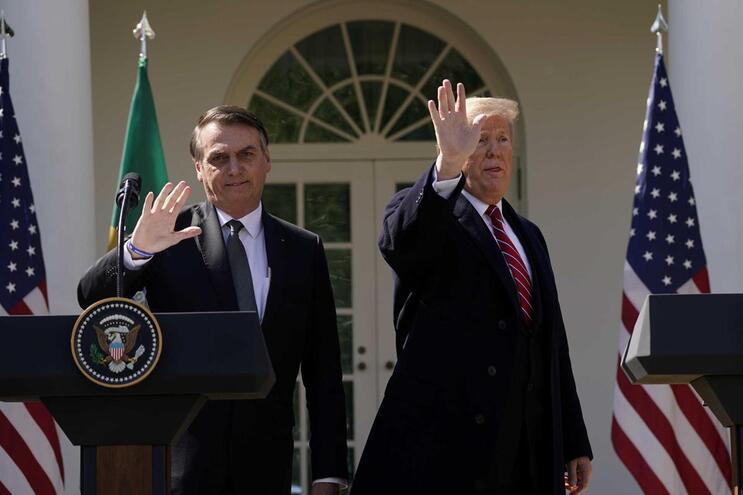 Bolsonaro e Donald Trump