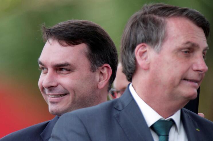 Flávio Bolsonaro com o pai, Jair Bolsonaro