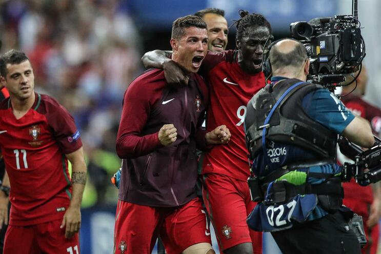 Ronaldo na final do Euro 2016
