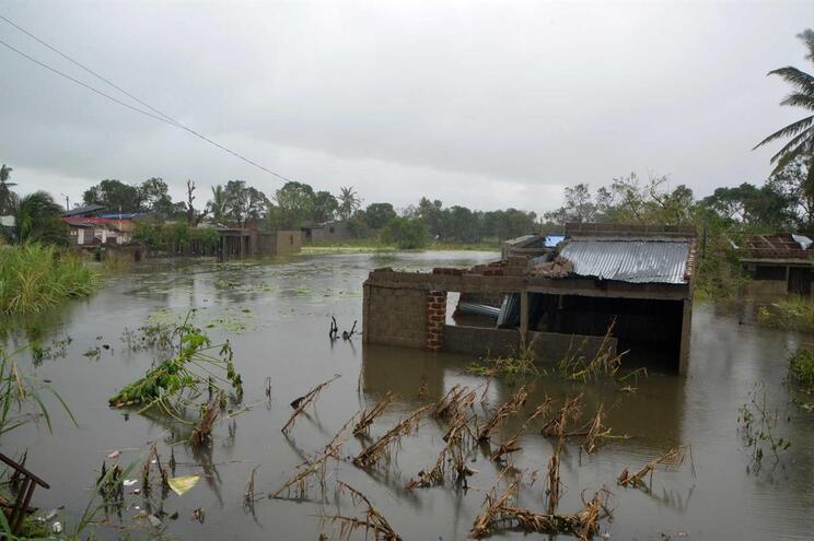 Destruição causada pelo ciclone Idai