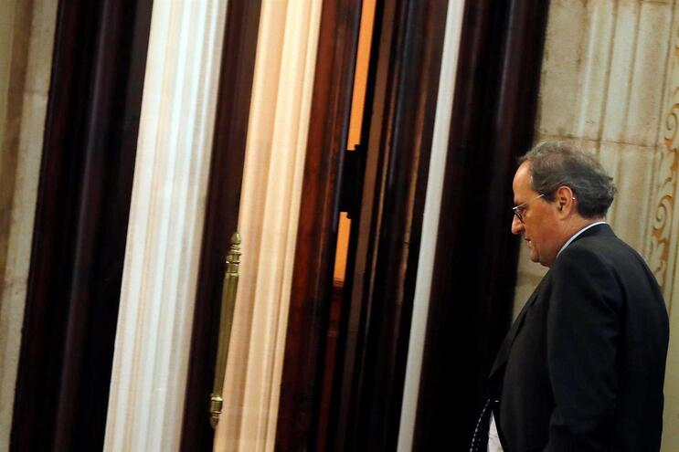 Quim Torra, presidente da região da Catalunha
