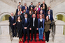 A foto oficial da comissão parlamentar do Ambiente