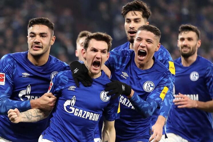 Festa dos jogadores do Schalke 04