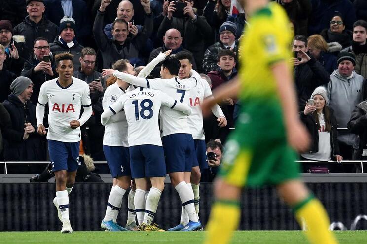 Tottenham de Mourinho sofre para vencer o Norwich