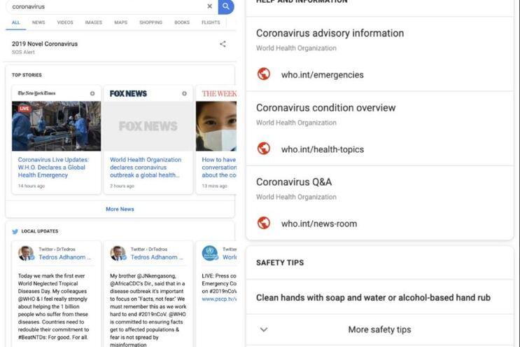OMS junta-se à Google para travar informações falsas sobre o coronavírus -  JN