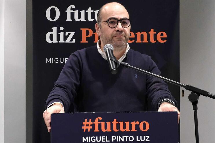 O candidato à liderança do Partido Social Democrata (PSD), Miguel Pinto Luz