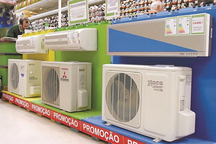 Aparelhos de ar condicionado desapareceram das prateleiras durante o mês de junho