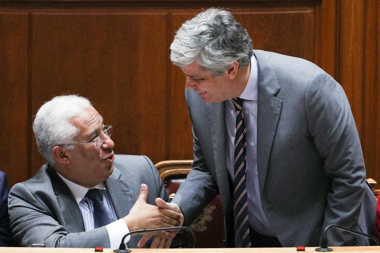 Primeiro-ministro, António Costa, e o ministro das Finanças, Mário Centeno