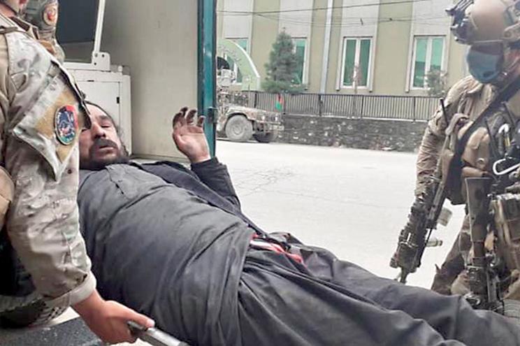 Vítima de ataque num templo em Kabul, Afeganistão