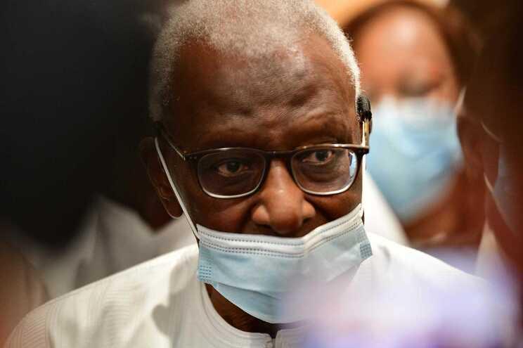 O senegalês Lamine Diack, antigo presidente da Associação Internacional das Federações de atletismo