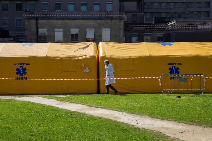 Hospital de campanha no hospital de São João, no Porto