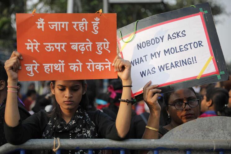 Protestos contra casos de violação na Índia