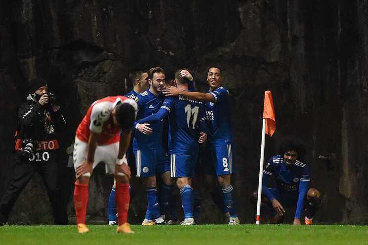 S. C. Braga cedeu um empate frente ao Leicester
