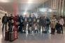 O grupo de portugueses à partida da China
