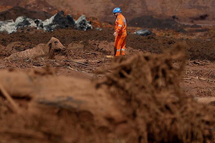 Rutura da barragem deixou um rasto de destruição