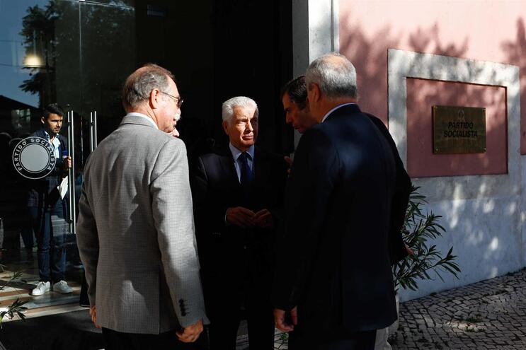 Presidente da Confederação Empresarial de Portugal (CIP), António Saraiva, após uma reunião com o secretário-geral