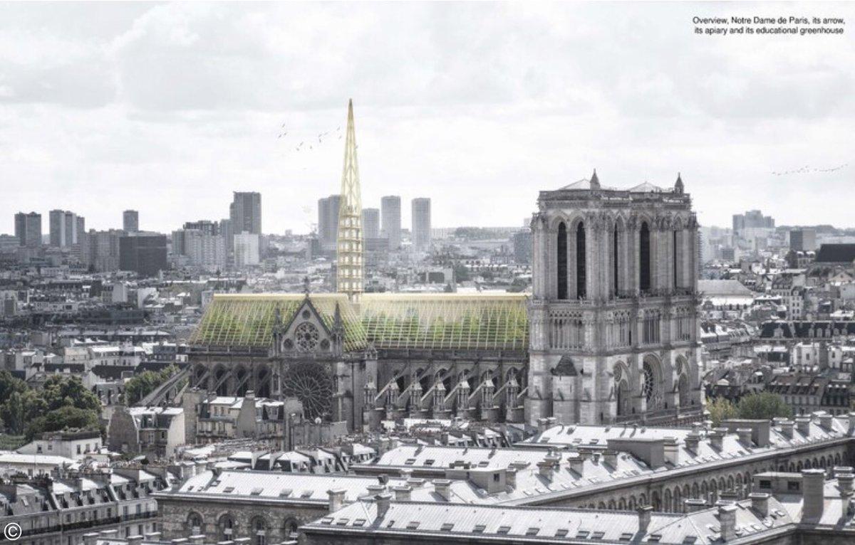 Piscina, luzes e uma floresta. As loucas ideias para a Notre-Dame de Paris