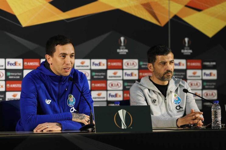 Marchesín e Sérgio Conceição