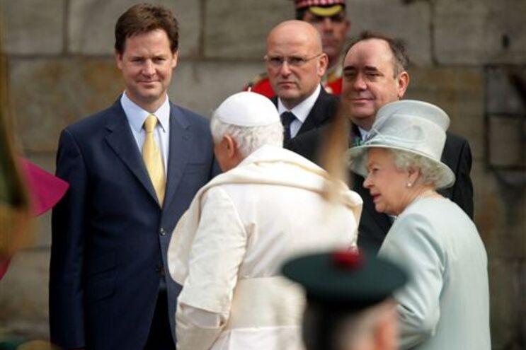 O papa durante a visita ao Reino Unido, em Setembro