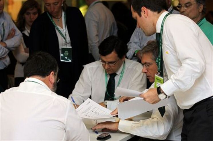 Contagem de votos para eleger 36.º presidente do Sporting