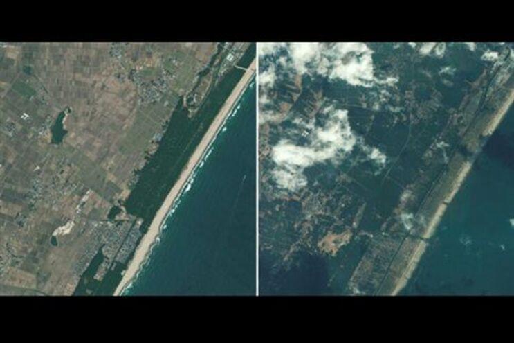 Sendai, antes e depois do tsunami
