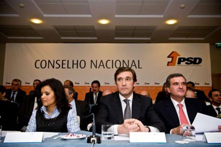 Passos Coelho na reunião do Conselho Nacional do PSD