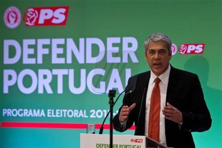José Sócrates na apresentação do programa eleitoral do PS