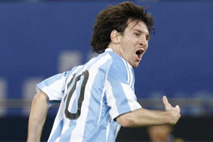 Messi é o grande nome da selecção argentina