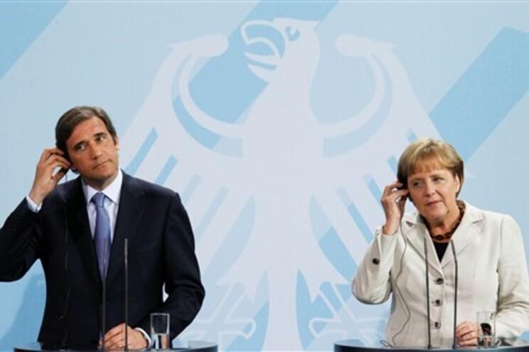 Passos Coelho reuniu esta quinta-feira com Angela Merkel