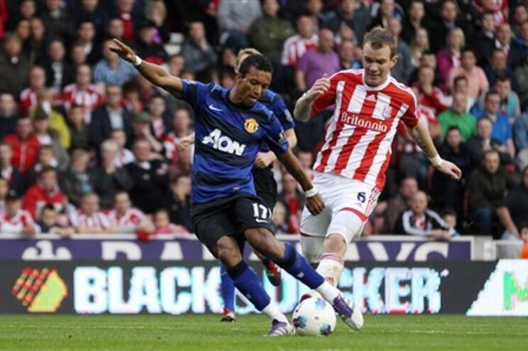 Nani marcou, mas não evitou o empate do Manchester United