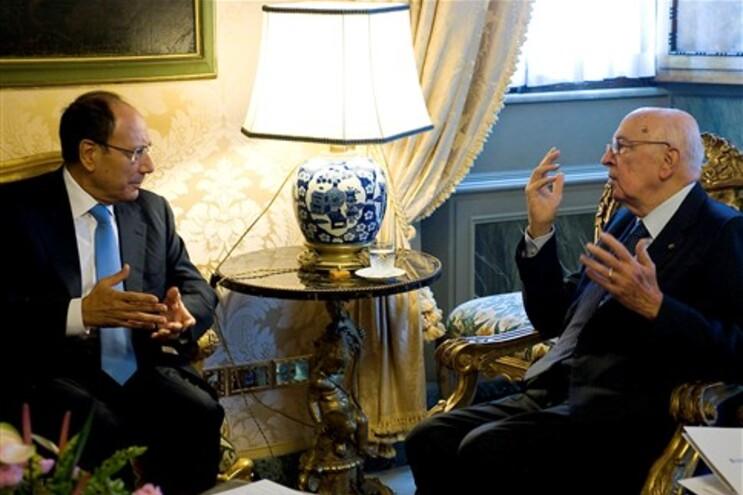 Presidente Giorgio Napolitano à direita
