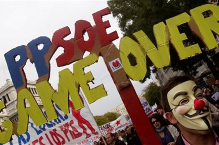 """""""Indignados"""" protestam no centro de Madrid"""