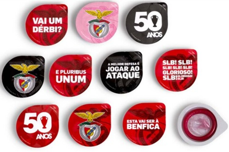 Preservativos do Benfica para adeptos de corpo inteiro