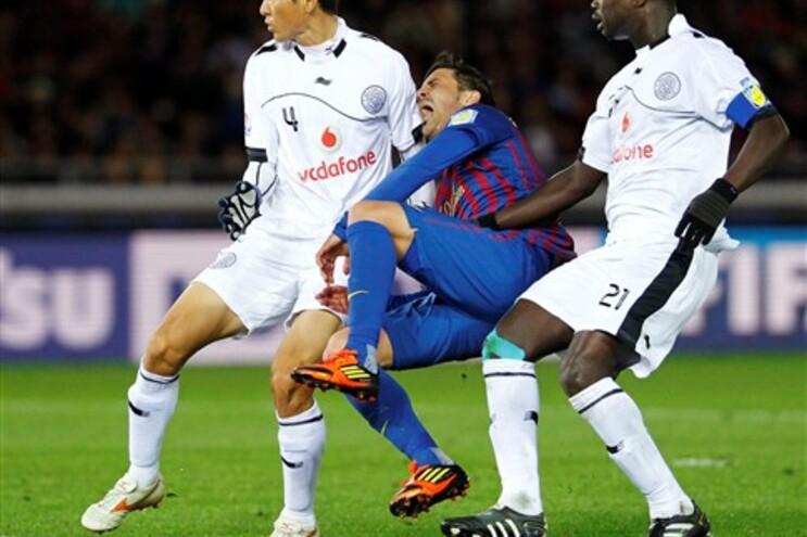 Momento da lesão de David Villa