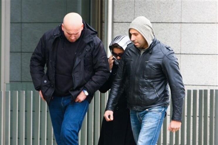 Imagem da chegada ao Tribunal de Famalicão