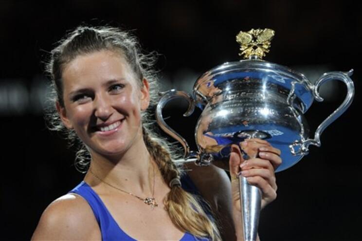 A tenista bielorrussa Victoria Azarenka venceu a russa Maria Sharapova em 1 hora e 22 minutos