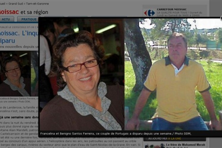 Casal de portugueses desaparecido há uma semana em França