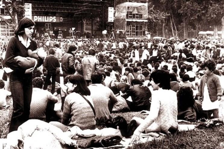 Aspeto do festival em 1982