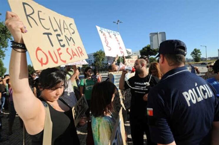 Manifestação contra a privatização da RTP