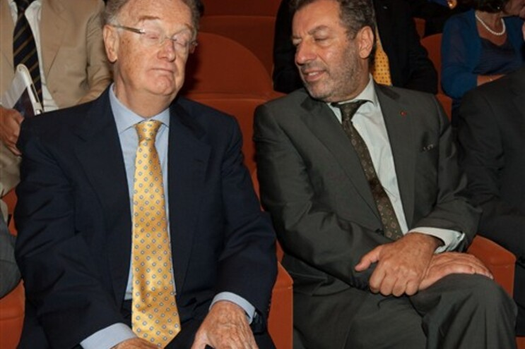 Jorge Sampaio, ex-presidente da República, e Nuno Crato, ministro da Educação
