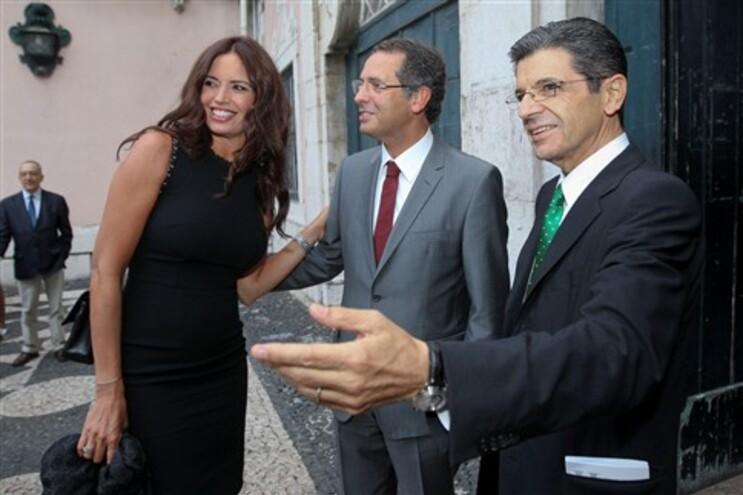 António José Seguro entre Bárbara Guimarães e Manuel Maria Carrilho
