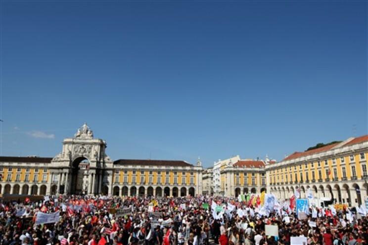 Terreiro do Paço foi o principal palco da manifestação organizada pela CGTP